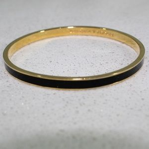 Kate Spade Black and Gold Draw the Line Bangle
